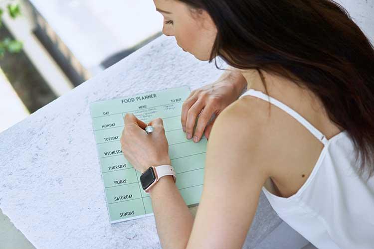 Food Planer Workout Plan mental physisch Gewicht auf den Schultern Tagebuch über Gedanken