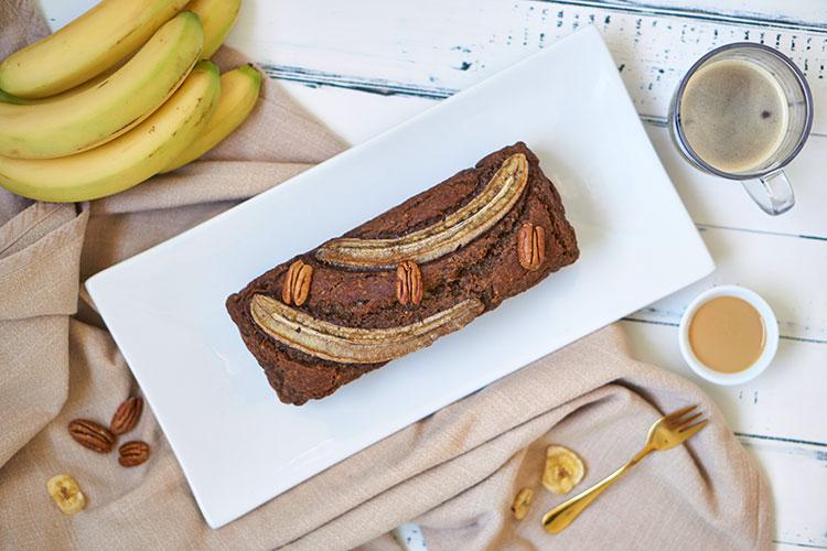 Banane trifft Pekannuss – Bananenbrot ohne zusätzliche Süße Fräulein Schulterfrei Karantine Yasemin Wüstenhagen
