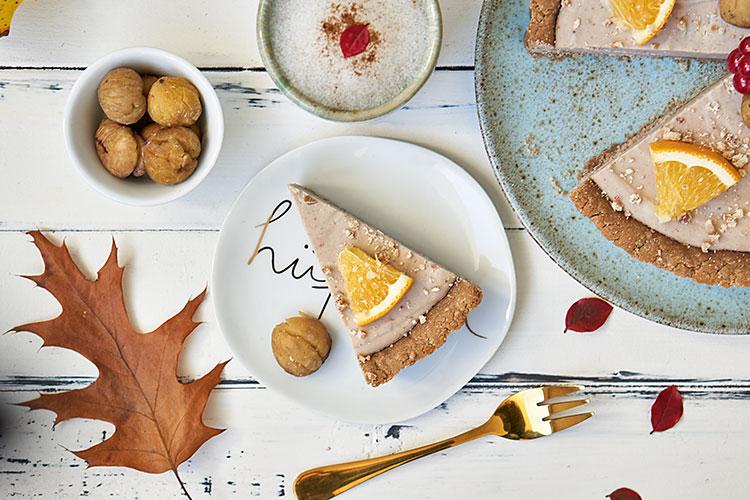 Vegane Maronen-Tarte ohne Zucker und Gluten Yasemin Wüstenhagen Herbst