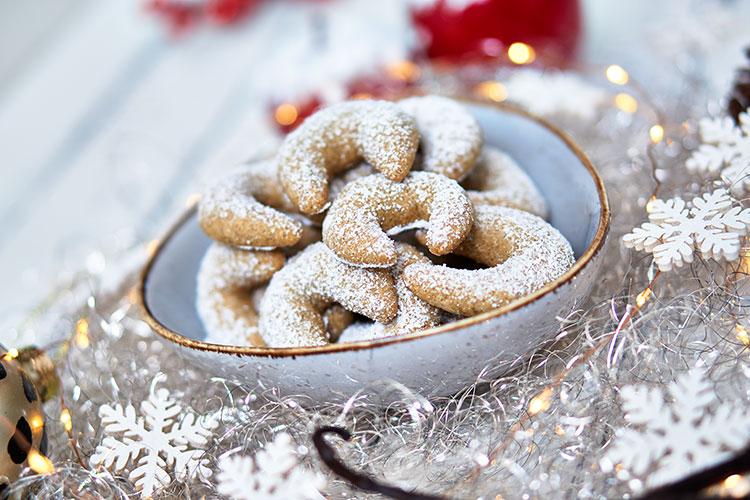 Vegane Vanillekipferl – ohne Zucker und Gluten Yasemin Wüstenhagen Weihnachten