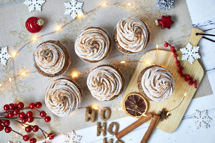 Vegane Chai-Cupcakes ohne Zucker und Gluten Yasemin Wüstenhagen Rezept
