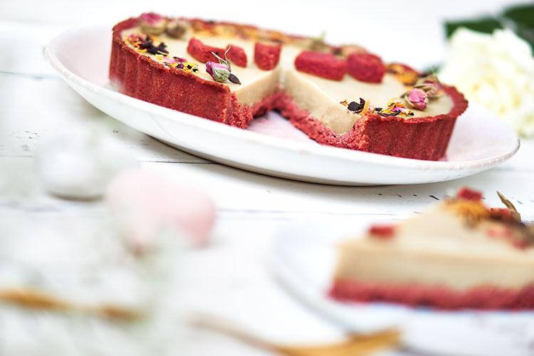 Vegane Schokotarte ohne raffinierten Zucker Yasemin Wüstenhagen Valentinstag