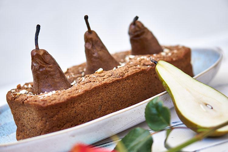 Veganer Birnenkuchen ohne Zucker und Gluten Yasemin Wüstenhagen frisch