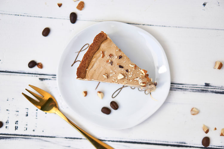 Vegane Tiramisu-Creme-Tarte ohne Zucker Yasemin Wüstenhagen Tiramisu-Torte