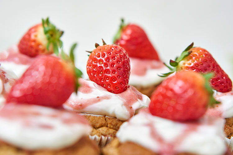Vegane Rhabarbermuffins ohne Zucker Yasemin Wüstenhagen Frühling