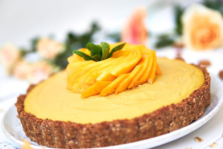 Vegane Mangotarte ohne Zucker Yasemin Wüstenhagen Rezept