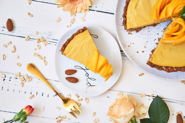 Vegane Mangotarte ohne Zucker Yasemin Wüstenhagen Mangocreme