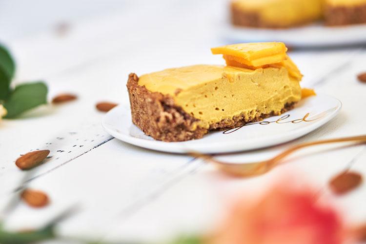 Vegane Mangotarte ohne Zucker Yasemin Wüstenhagen fruchtig