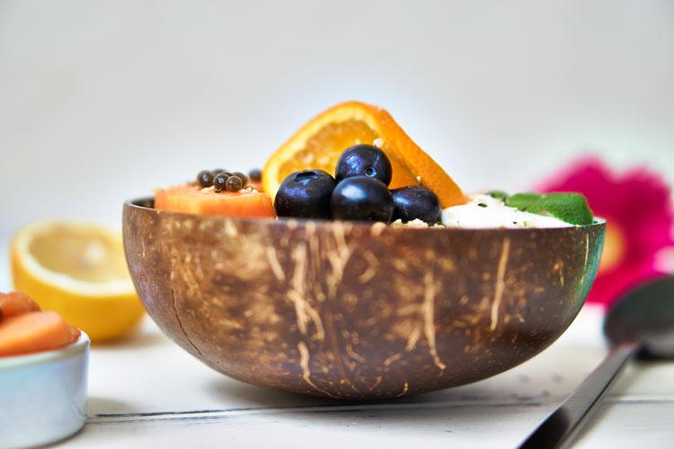 Roh-vegane Papaya-Buchweizen-Bowl Yasemin Wüstenhagen zuckerfrei