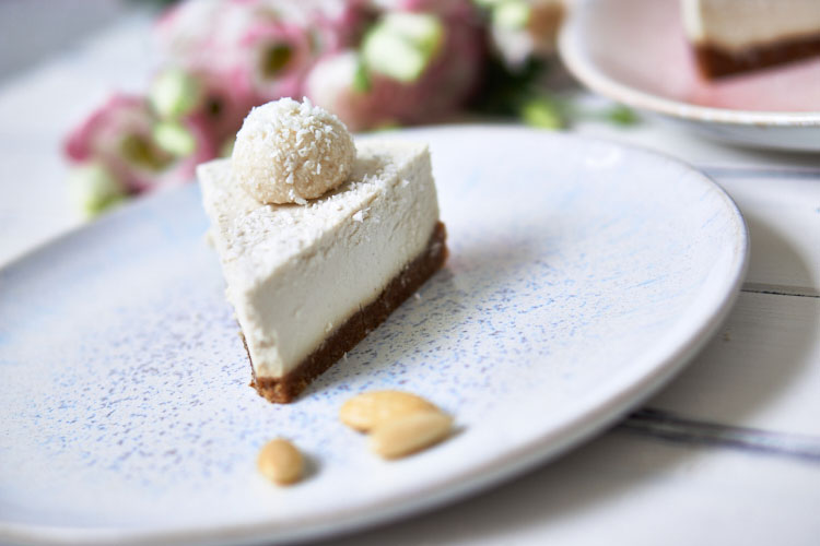 Roh-vegane Rafaello-Torte Yasemin Wüstenhagen ohne Zucker