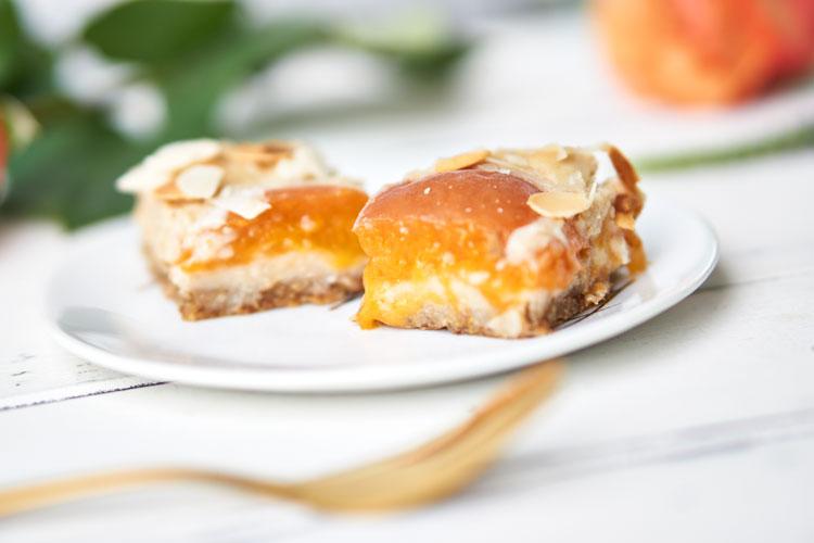 Veganer Käsekuchen mit Aprikosen Yasemin Wüstenhagen Glutenfrei