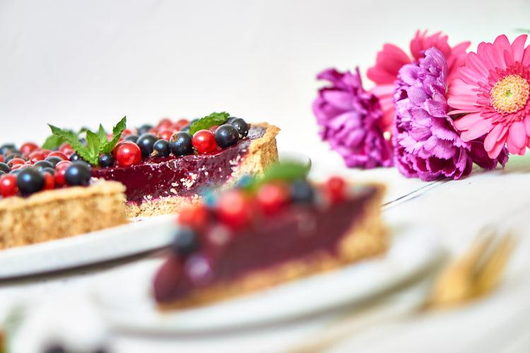 Vegane Johannisbeer-Tarte ohne Gelatine Yasemin Wüstenhagen fruchtig