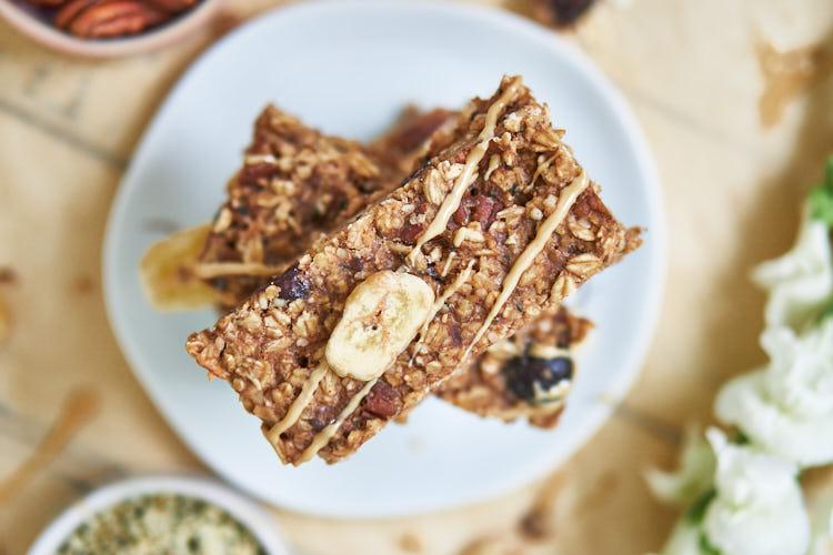 Vegane Bananenflapjacks ohne Zucker Yasemin Wüstenhagen Rezept