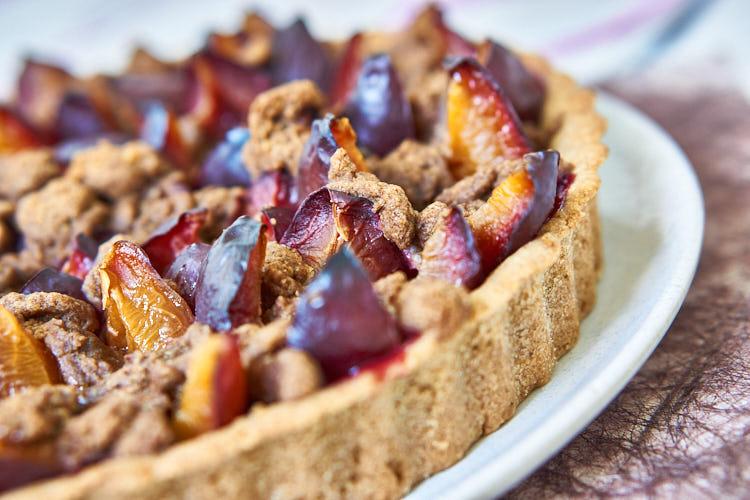 Veganer Zwetschgenkuchen ohne Zucker und Gluten Yasemin Wüstenhagen Mürbteig